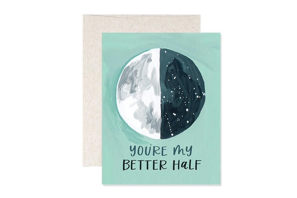 Better Half Moon Greeting Card