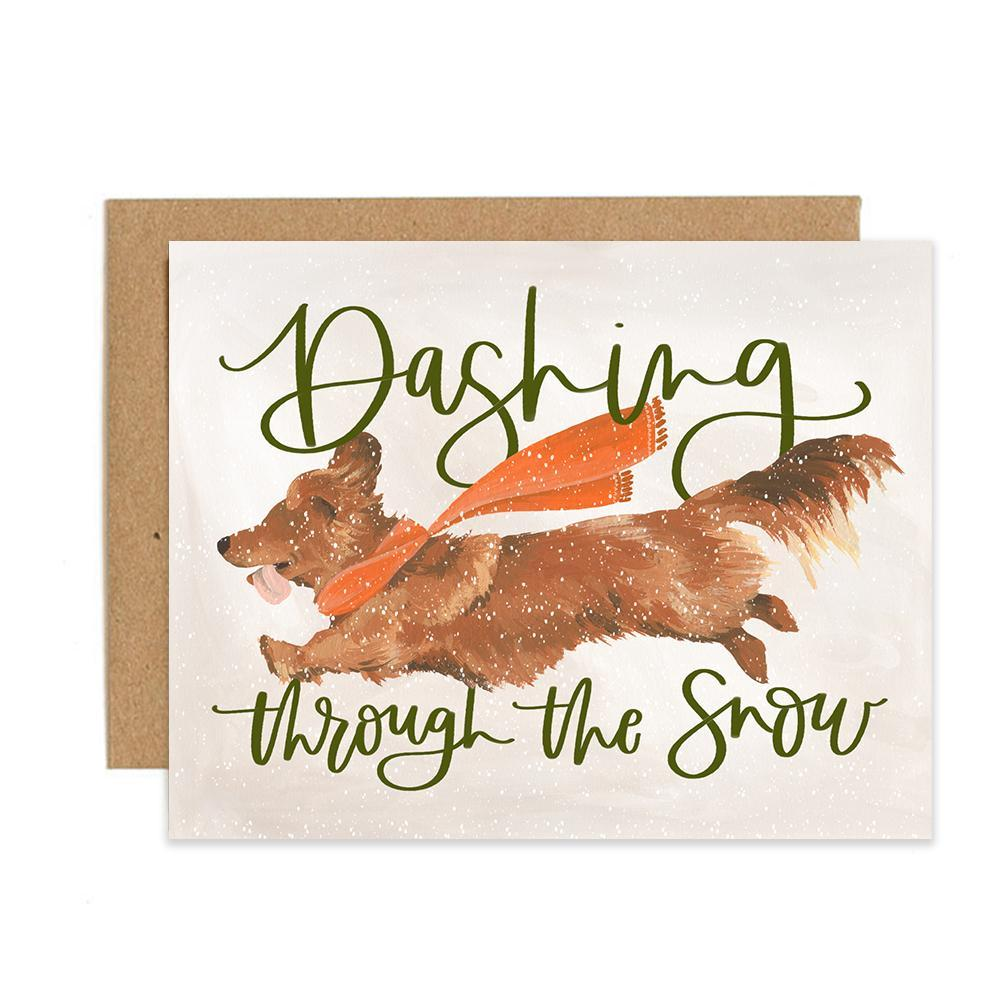 Dashing Dog Greeting Card