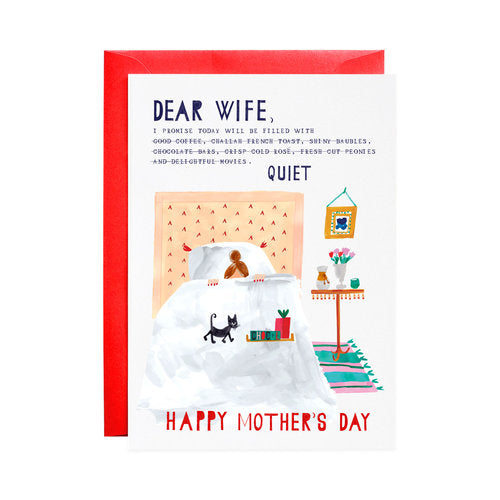 Dear Wife - Mother's Day Greeting Card