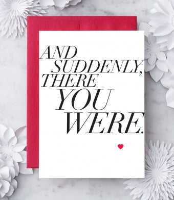 Suddenly Greeting Card