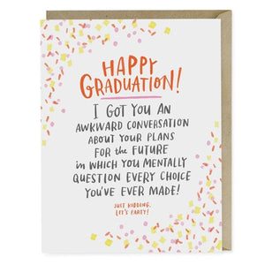 Awkward Convo Graduation Card by Emily McDowell