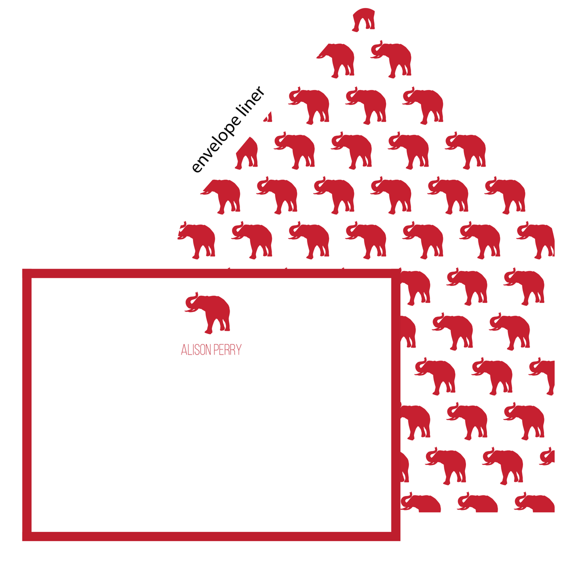 Elephant Flat Note (with envelope liner)