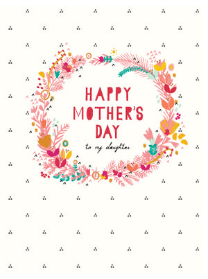 Floral Wreath - Mother's Day Greeting Card