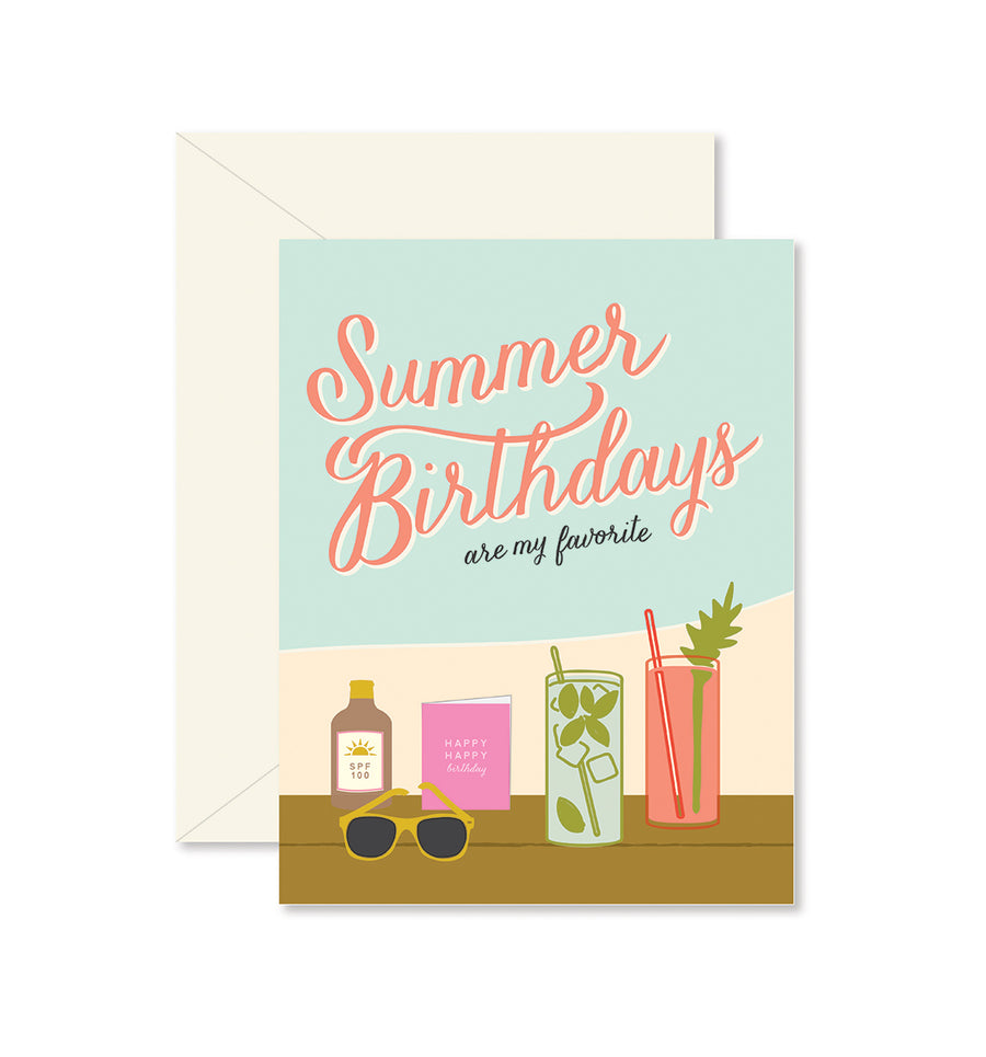 Summer Birthdays Greeting Card