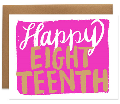 Happy Eighteenth Birthday Greeting Card