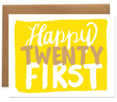 Happy Twenty First Birthday Card