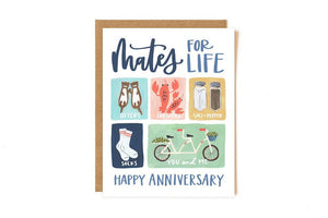Mates for Life Anniversary Card