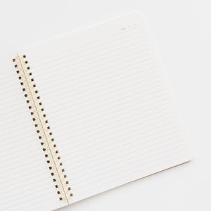 White Perfect Dot Spiral Notebook by Sugar Paper