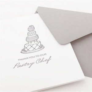 Thank You To Our Pastry Chef Card by Penelope's Press