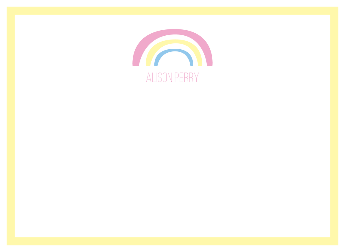 Rainbow Flat Note (without envelope liner)