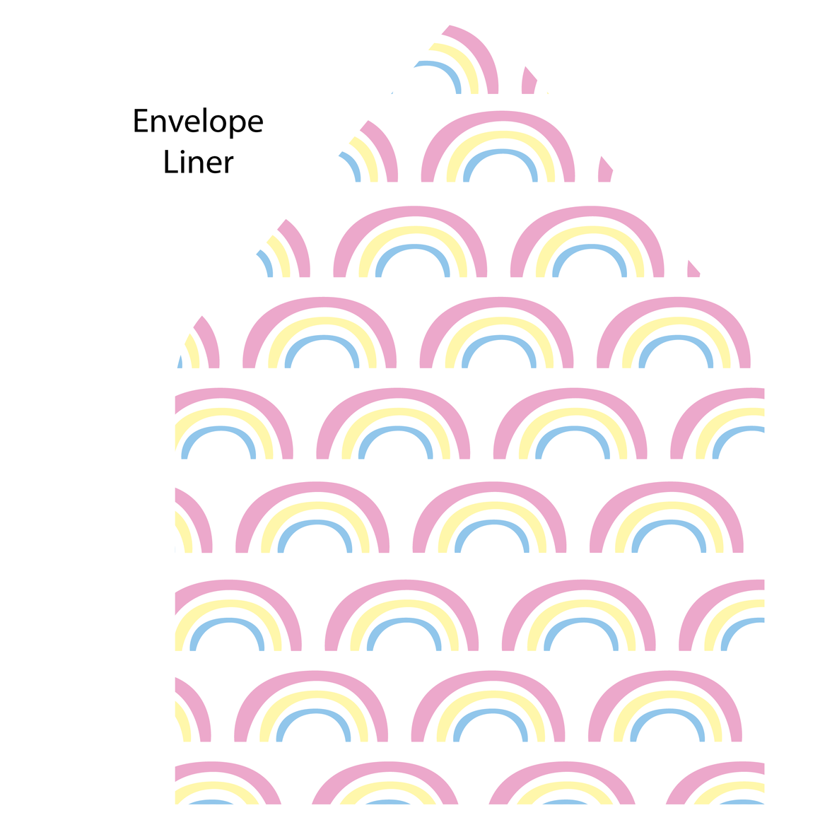 Rainbow Flat Note (with envelope liner)
