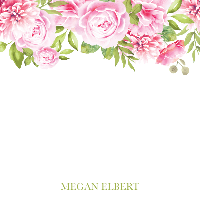 Personalized Floral Square Notepad