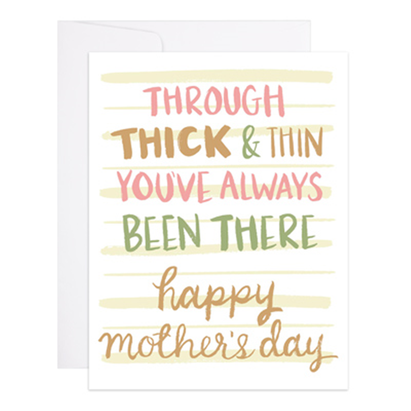 Thick and Thin Mother's Day Card