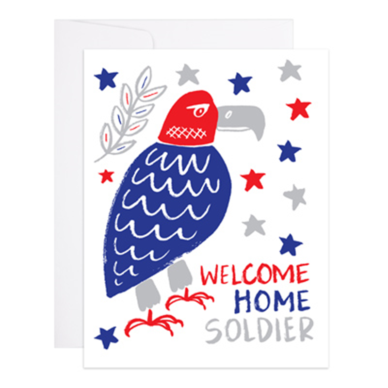 Welcome Home Soldier Greeting Card