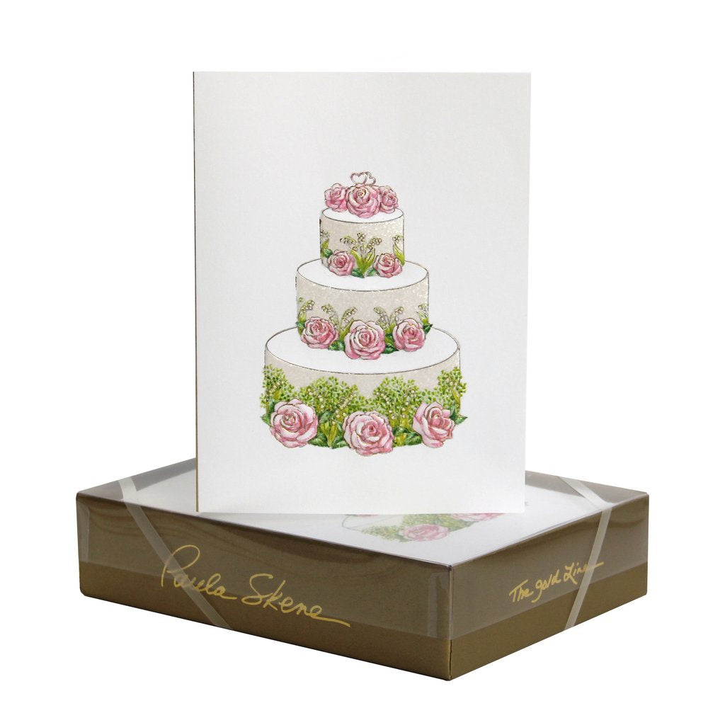 Rose & Lily Wedding Cake