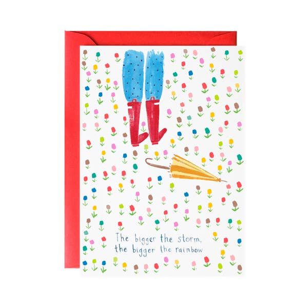 Big Beautiful Rainbow - Greeting Card