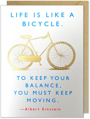 Bicycle Quote from Einstein Greeting Card