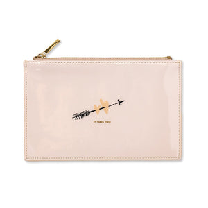 kate spade new york bridal pencil pouch ~ two hearts