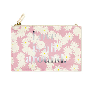 kate spade new york pencil pouch ~ bridal, love is all around