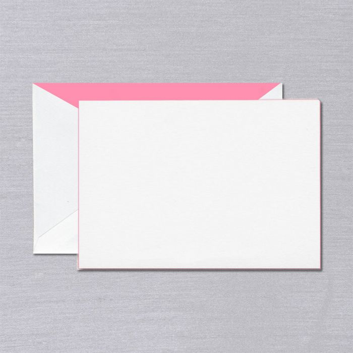 Crane & Co. Pink Foil Edged Card
