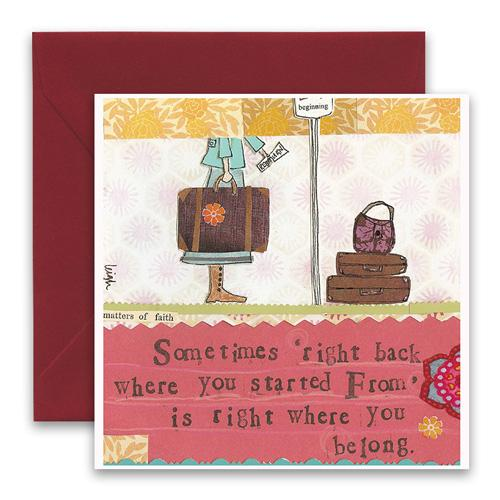 Right Back Greeting Card