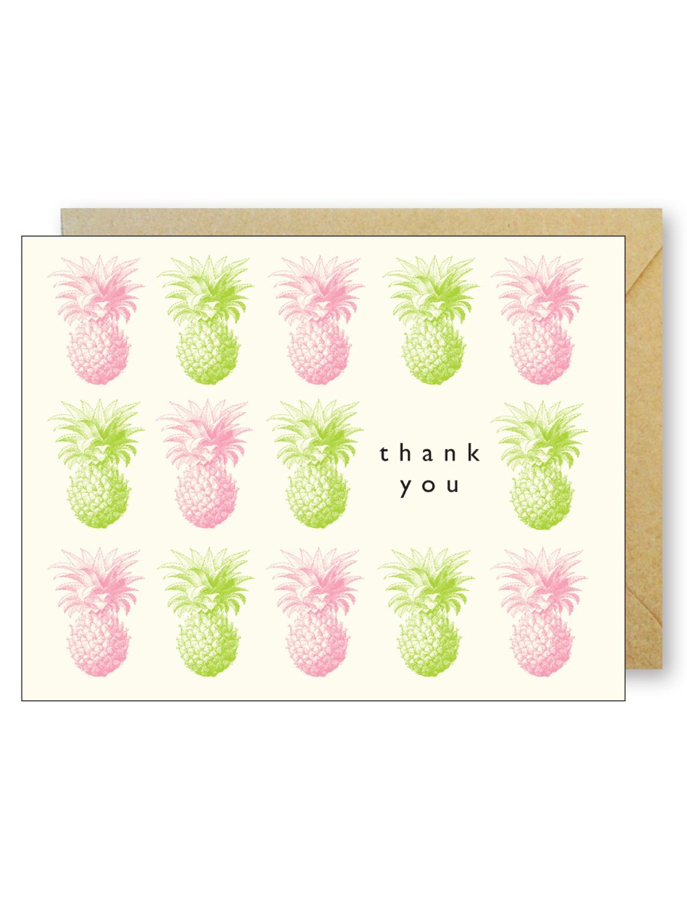 Pineapple Thank You Greeting Card