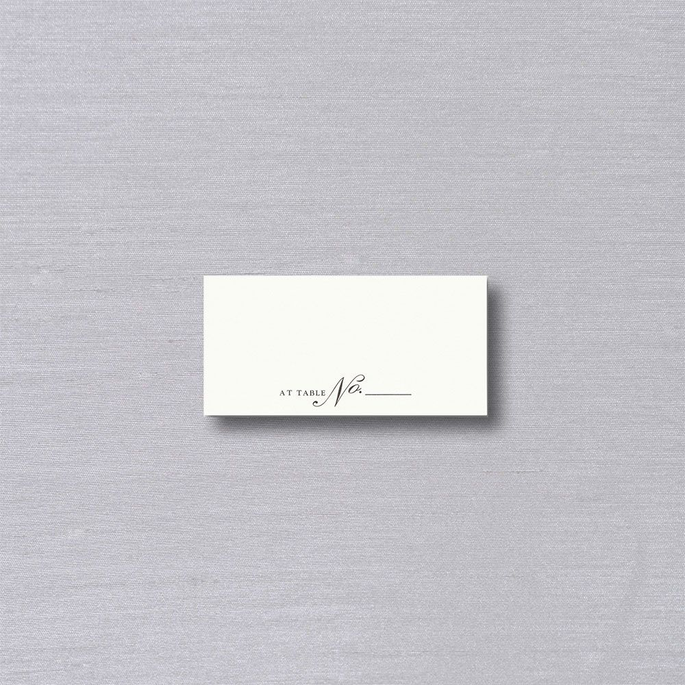 Vera Wang Table Number Place Card