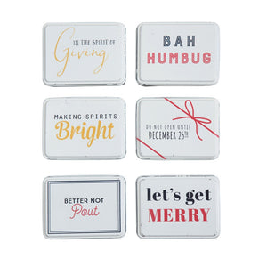 Creative Co-op Set of Metal Holiday Gift Boxes