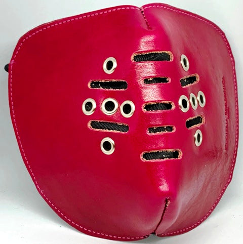 LEATHER GLAMOUR MASK ''ELEGANCE'' IN VERA PELLE - CUOIERIA BORBONICA