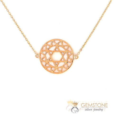 heart chakra necklace rose gold