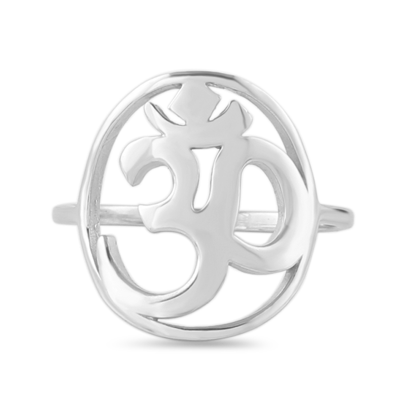 silver om rings for women