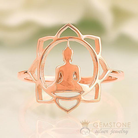 chakra jewelry- ring in 14k rose gold vermeil