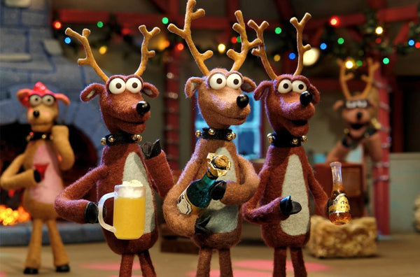 Christmas Celebration With Reindeers