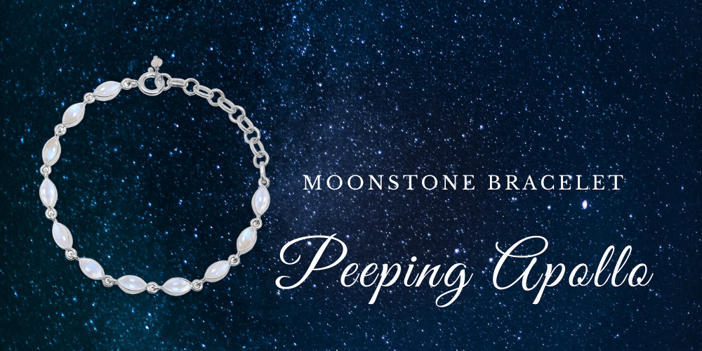 Moonstone Bracelet - Peeping Apollo