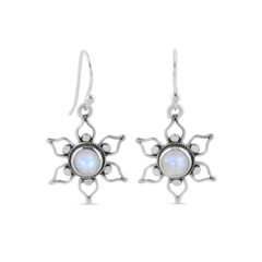 Moonstone Earring-Floral Essence
