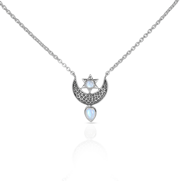 Moonstone Necklace -To The Moon & Back