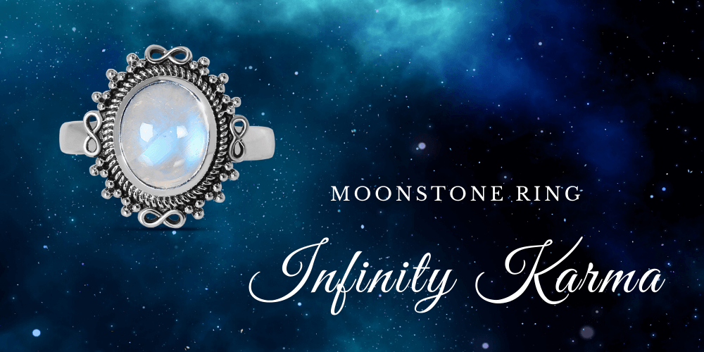 Moonstone Ring - Infinity Karma