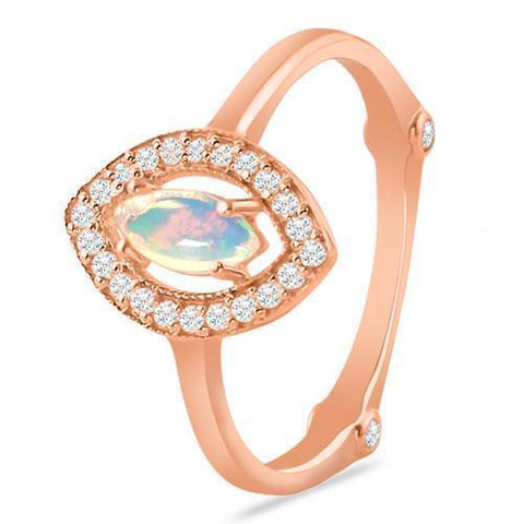 rose gold opal rings