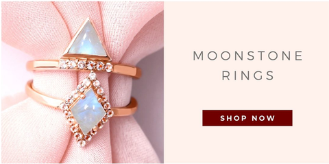 Rose Gold Moonstone Rings