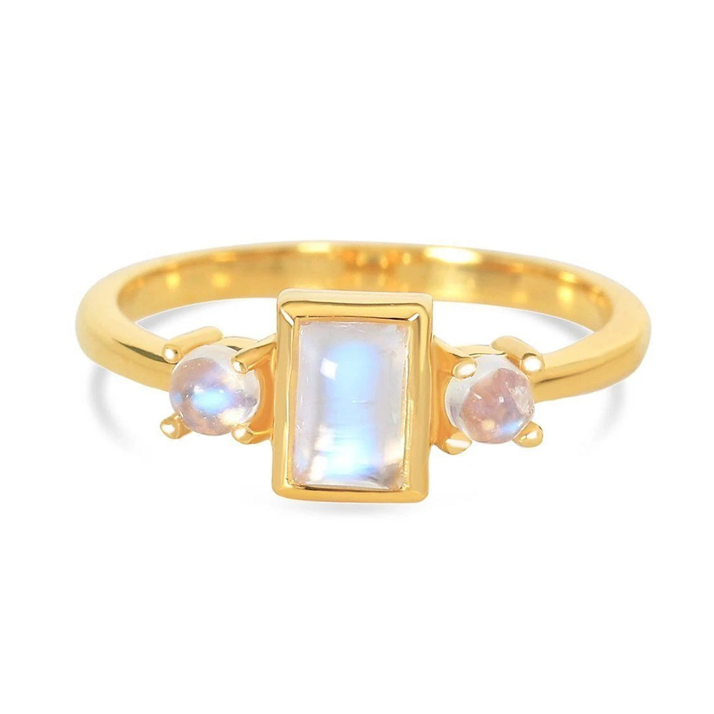 Moonstone Gold Ring - Fame