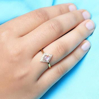 Moonstone Gold Ring - Felicity