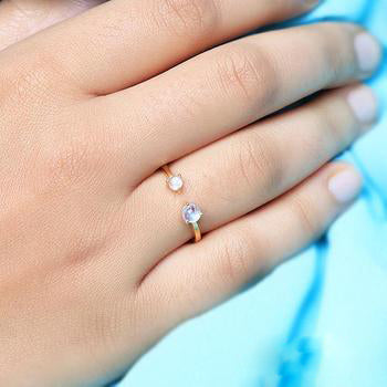 Moonstone Gold Ring - Melody