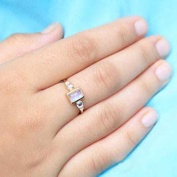 Moonstone Gold Ring - Royalty