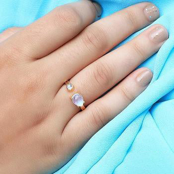 Moonstone Gold  Ring - Symphony