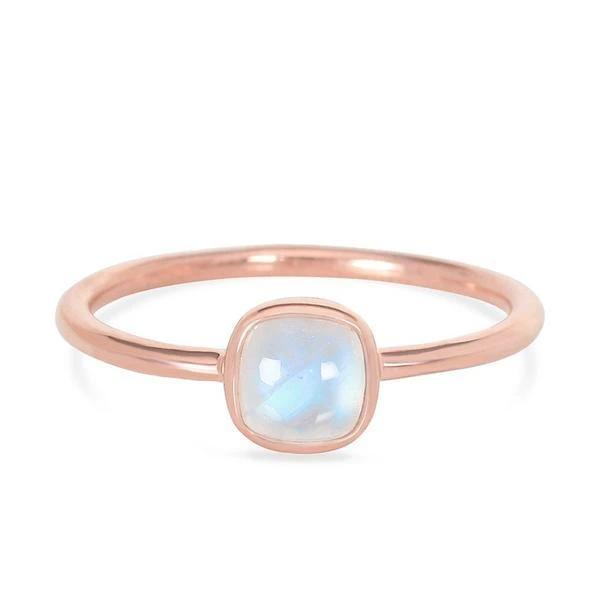 14k Gold Ring With Moonstone
