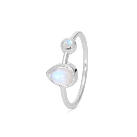 Moonstone Ring-Sea Spectre-S