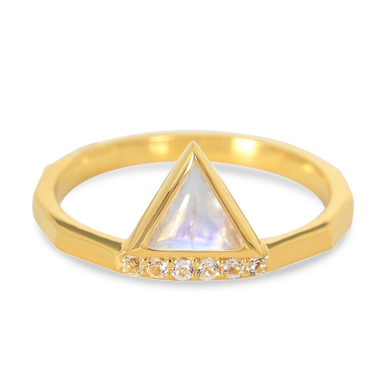 Moonstone Gold Ring - Ardour