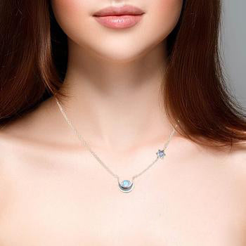Moonstone Necklace-Vista Sky