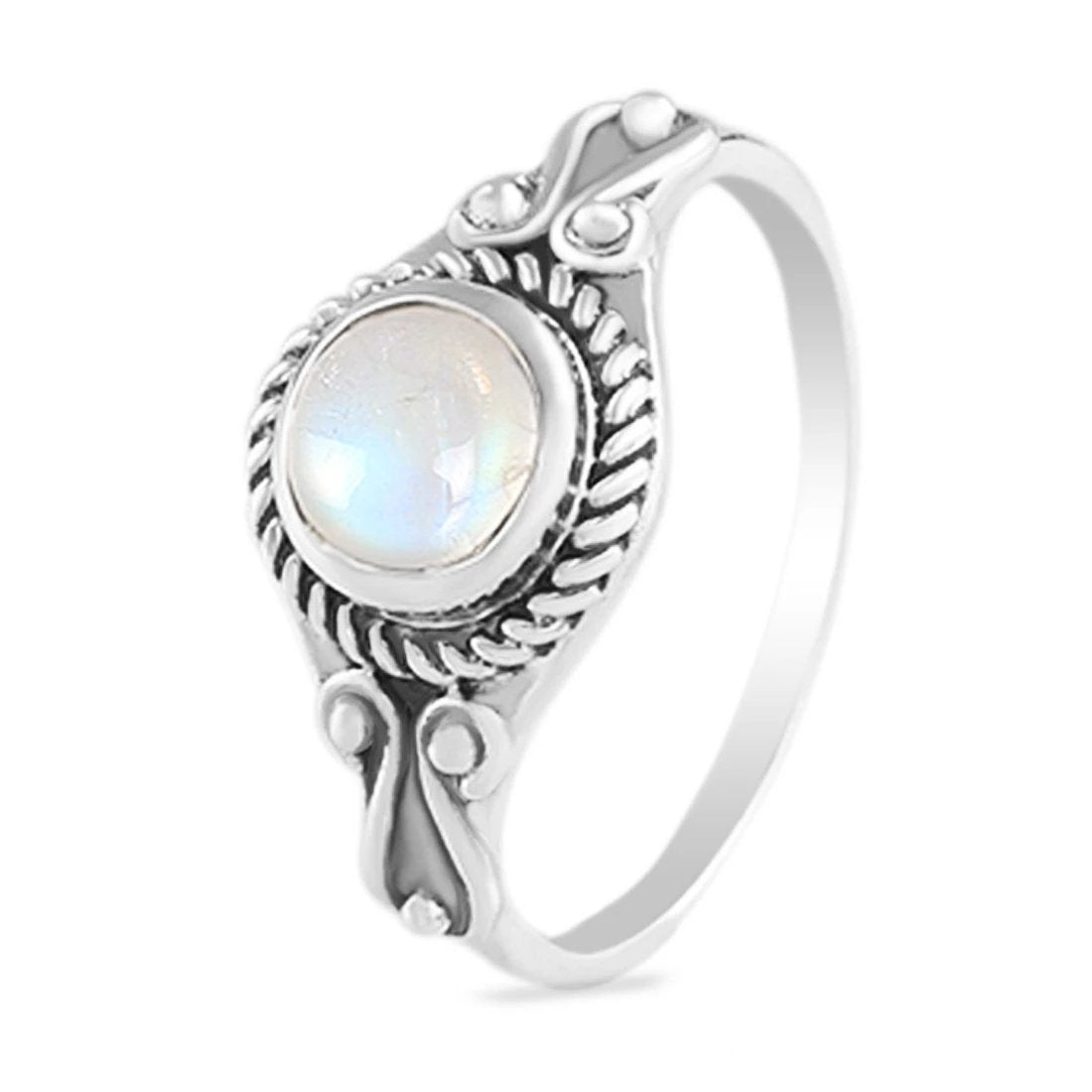 Moonstone Ring-Mirth Moonstone Ring 925 SILVER & MOONSTONE