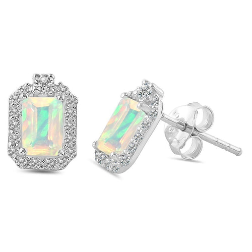 925 STERLING SILVER Opal Earring-Luminance Opal Earring 925 SILVER & GENUINE OPAL
